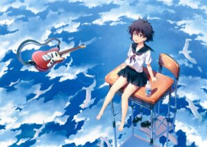 Rating: Safe Score: 24 Tags: feet guitar kuuchuu_yousai seifuku User: Twinsenzw