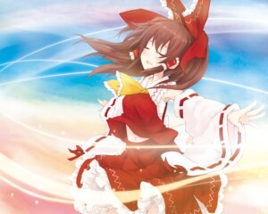 Rating: Safe Score: 17 Tags: hakurei_reimu touhou wallpaper yukitaro User: Nekotsúh