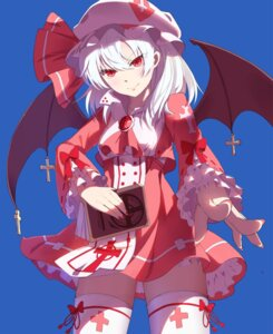 Rating: Safe Score: 37 Tags: baisi_shaonian dress remilia_scarlet thighhighs touhou wings User: Mr_GT