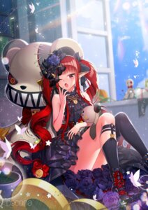 Rating: Safe Score: 37 Tags: dress dungeon_fighter milcona pointy_ears thighhighs watermark User: Mr_GT