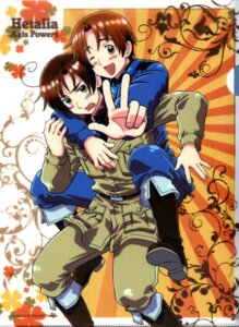 Rating: Safe Score: 10 Tags: hetalia_axis_powers kannan_masaaki male north_italy scanning_artifacts south_italy User: Radioactive