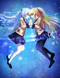 Rating: Safe Score: 18 Tags: angel_beats! pantyhose seifuku tazu tenshi yusa_(angel_beats!) User: ange1