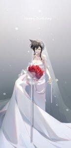 Rating: Questionable Score: 22 Tags: cleavage detective_conan dress mouri_ran no_bra suyi-j wedding_dress User: Dreista