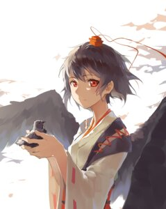 Rating: Safe Score: 43 Tags: huanxiang_heitu shameimaru_aya touhou wings User: sylver650