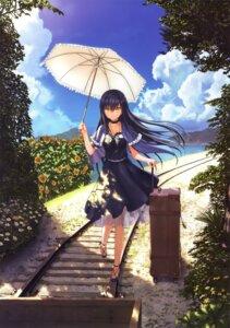 Rating: Safe Score: 49 Tags: dress heels key kushima_kamome na-ga see_through summer_pockets User: marechal