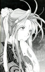 Rating: Safe Score: 4 Tags: ah_my_goddess belldandy fujishima_kousuke monochrome User: minakomel