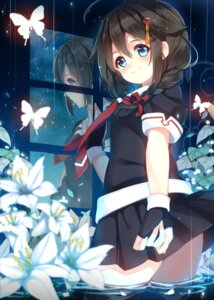 Rating: Safe Score: 32 Tags: kantai_collection satomachi seifuku shigure_(kancolle) thighhighs wet User: Mr_GT