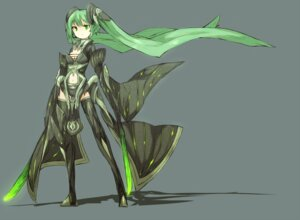 Rating: Safe Score: 24 Tags: hatsune_miku shirogane_usagi sword thighhighs vocaloid User: charunetra