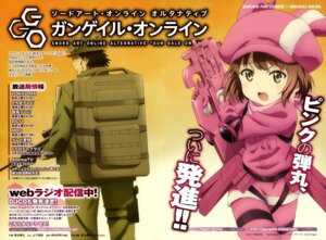 Rating: Safe Score: 15 Tags: bodysuit gun kumagai_katsuhiro llenn sword_art_online uniform User: drop