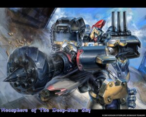 Rating: Safe Score: 12 Tags: aoi_sora_no_neosphere deep-blue_series mecha shishizaru tenzan wallpaper User: fireattack