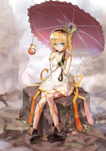Rating: Safe Score: 75 Tags: cleavage dress edna kamisa tales_of tales_of_zestiria umbrella User: Mr_GT