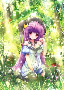 Rating: Safe Score: 42 Tags: catbell cleavage dress patchouli_knowledge thighhighs touhou User: 椎名深夏