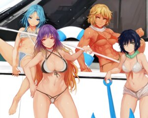 Rating: Questionable Score: 20 Tags: bikini cameltoe hijiri_byakuren kumoi_ichirin murasa_minamitsu swimsuits tagme toramaru_shou touhou underboob User: BattlequeenYume