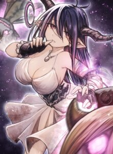 Rating: Safe Score: 31 Tags: cleavage danua dress granblue_fantasy horns mephist-pheles no_bra pointy_ears User: Mr_GT