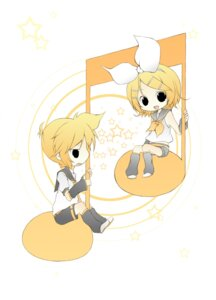Rating: Safe Score: 3 Tags: kagamine_len kagamine_rin tomine_chiho vocaloid User: charunetra