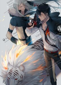 Rating: Safe Score: 6 Tags: ekita_gen gun katekyo_hitman_reborn! male superbi_squalo xanxus User: charunetra
