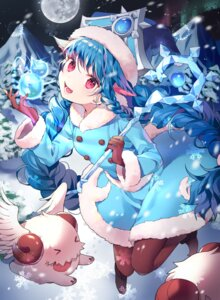 Rating: Safe Score: 21 Tags: animal_ears azit_(down) dress horns league_of_legends lulu_(league_of_legends) pantyhose poro_(league_of_legends) weapon User: charunetra