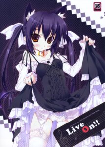 Rating: Safe Score: 58 Tags: animal_ears k-on! lolita_fashion nakano_azusa nekomimi pantsu private_garden stockings thighhighs tsurusaki_takahiro User: yumichi-sama