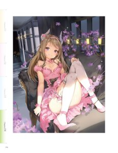 Rating: Questionable Score: 138 Tags: anmi cleavage digital_version dress fishnets heels horns thighhighs User: Twinsenzw