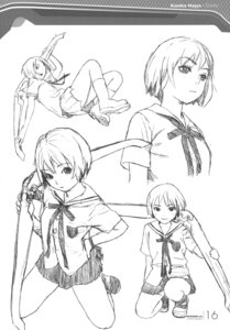 Rating: Safe Score: 8 Tags: character_design houjou_kuniko monochrome range_murata seifuku shangri-la sketch User: Share