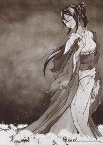 Rating: Safe Score: 9 Tags: afro_samurai kimono monochrome okazaki_takashi User: Radioactive