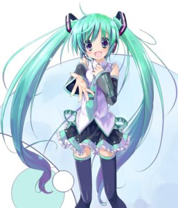 Rating: Safe Score: 26 Tags: hatsune_miku lucie takanashie thighhighs vocaloid User: blooregardo