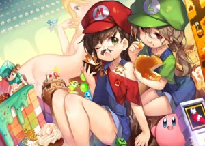 Rating: Questionable Score: 42 Tags: ass cream crossover genderswap kirby kirby_(character) luigi mario mario_bros. minecraft naked overalls takotsu User: Mr_GT