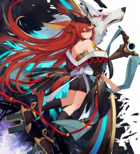 Rating: Safe Score: 5 Tags: animal_ears ass japanese_clothes tagme tail weapon User: BattlequeenYume