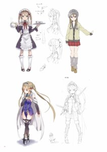 Rating: Safe Score: 24 Tags: armor digital_version dress maid outbreak_company sketch sword thighhighs yuugen User: Twinsenzw