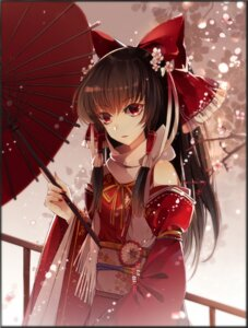 Rating: Safe Score: 39 Tags: baocaizi hakurei_reimu japanese_clothes touhou umbrella User: Mr_GT