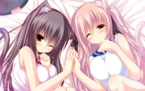 Rating: Safe Score: 97 Tags: animal_ears mia_flatpaddy nekomimi shia_flatpaddy syroh tail wallpaper User: 椎名深夏