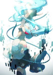 Rating: Safe Score: 20 Tags: hatsune_miku headphones saihate tattoo thighhighs vocaloid User: Mr_GT