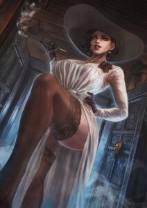 Rating: Questionable Score: 17 Tags: alcina_dimitrescu cleavage dress monori_rogue no_bra resident_evil see_through skirt_lift thighhighs User: Werewolverine4