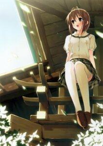 Rating: Safe Score: 48 Tags: amatsume_akira kantoku seifuku thighhighs yosuga_no_sora User: petopeto