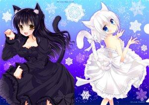 Rating: Safe Score: 35 Tags: animal_ears cleavage dress nekomimi tail tamakake User: inumimi.7