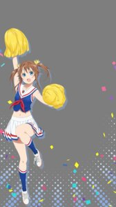 Rating: Safe Score: 10 Tags: cheerleader high_school_fleet misaki_akeno skirt_lift tagme transparent_png User: saemonnokami