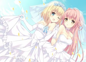 Rating: Safe Score: 64 Tags: bekotarou cleavage dress wedding_dress User: KazukiNanako