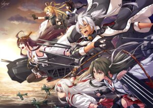 Rating: Safe Score: 19 Tags: kantai_collection kongou_(kancolle) megane musashi_(kancolle) sakiyamama seifuku shoukaku_(kancolle) thighhighs weapon zuikaku_(kancolle) User: Mr_GT