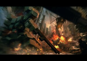 Rating: Safe Score: 31 Tags: front_mission front_mission_evolved gun landscape mecha User: Radioactive