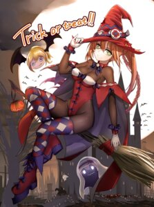 Rating: Safe Score: 31 Tags: bodysuit halloween onceskylark thighhighs witch zhanjianshaonv User: Mr_GT