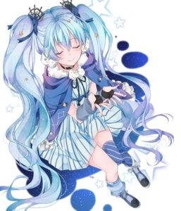 Rating: Safe Score: 56 Tags: chun_(pixiv:2460194) dress fuyu_no_yoru_miku hatsune_miku thighhighs vocaloid User: charunetra