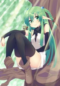 Rating: Safe Score: 45 Tags: elf nigou_(aozoragarou) pointy_ears thighhighs User: KazukiNanako