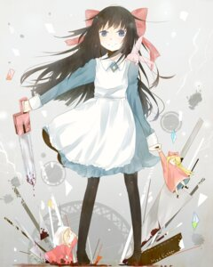 Rating: Safe Score: 17 Tags: aya_drevis blood chainsaw dress hiite-usagi mad_father pantyhose weapon User: tbchyu001