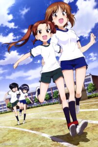 Rating: Safe Score: 41 Tags: girls_und_panzer gym_uniform kadotani_anzu nishizumi_miho reizei_mako sono_midoriko wang_guo_nian User: drop