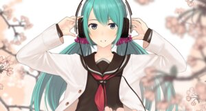 Rating: Safe Score: 25 Tags: couzone hatsune_miku headphones open_shirt seifuku sweater vocaloid User: Mr_GT