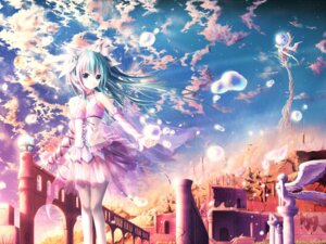 Rating: Safe Score: 112 Tags: akkijin dress hatsune_miku landscape see_through thighhighs vocaloid User: 椎名深夏