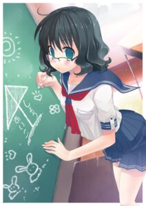 Rating: Safe Score: 20 Tags: abondz megane seifuku User: blooregardo