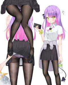 Rating: Questionable Score: 30 Tags: amane_kanata ass hololive k_mugura pantsu pantyhose seifuku skirt_lift tail tokoyami_towa yuri User: Mr_GT