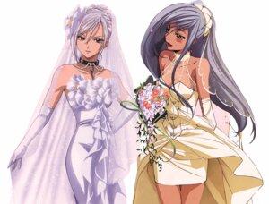 Rating: Safe Score: 52 Tags: akashiya_moka code_geass crossover dress inner_moka photoshop rosario_+_vampire viletta_nu wedding_dress User: errisy