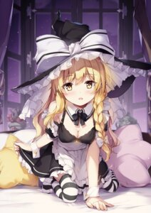 Rating: Safe Score: 50 Tags: cleavage kirisame_marisa maid miyase_mahiro thighhighs touhou witch User: kiyoe